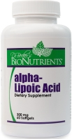 Alpha Lipoic Acid, 300mg, 60 softgels